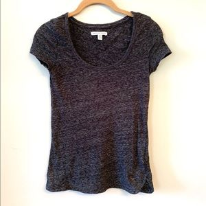 AEO Distressed Charcoal Gray T-shirt XS